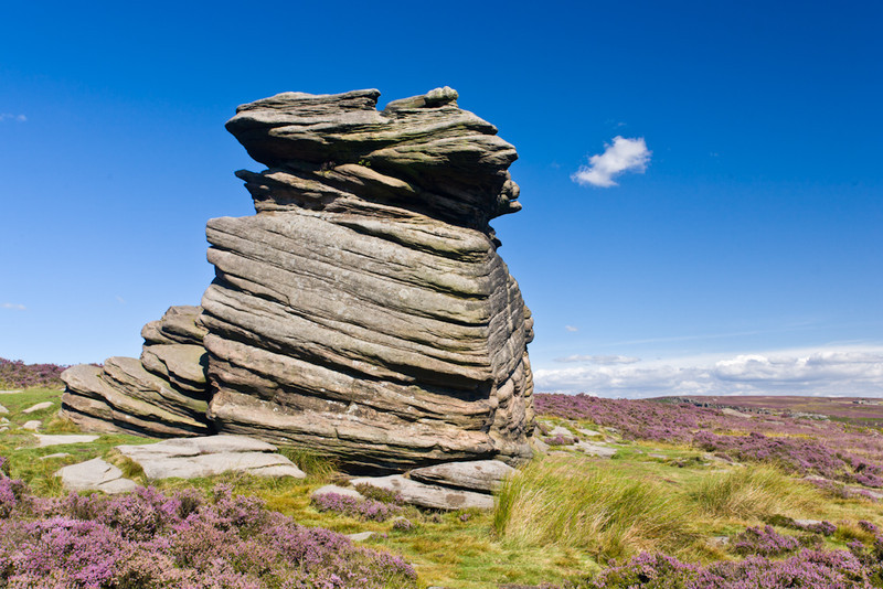 Weathered gritstone formation, Derbyshire