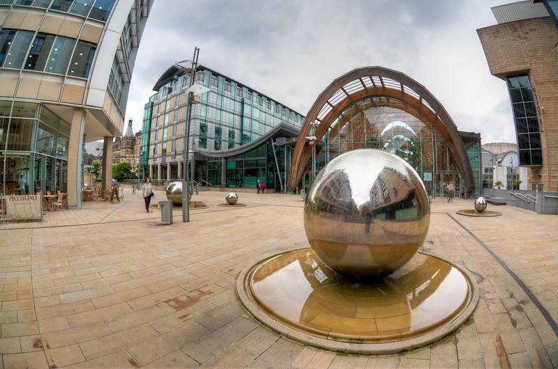 St Paul's Place, Sheffield City Centre (HDR image)