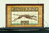 "Faience pub sign ""The Greyhound"" Attercliffe Road, Sheffield"