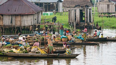 Market sellers on Lake Nokoue