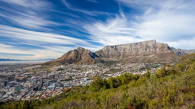 Cape Town city bowl and Table Mountain