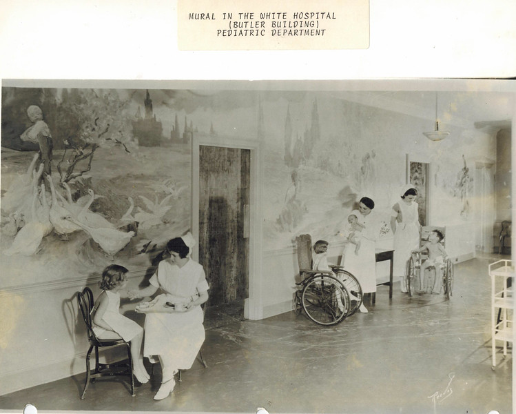 Grady Hospital Pediatric Ward with Mural in Butler Building