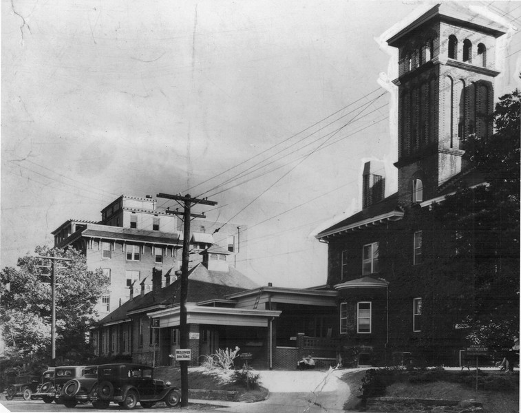Original Grady Hospital Emergency Entrance on Coca Cola Place