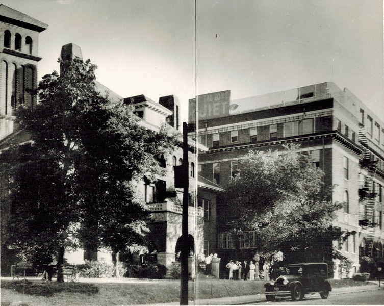 Original Grady Hospital (left) and Butler Building (right)