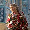 Colorful dress in Samarkand