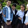 Scoolgirls posing, Samarkand