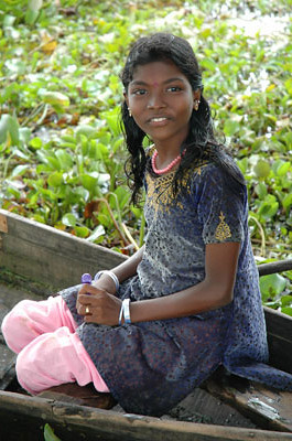 Girl in a Boat<br /> Alleppey, Kerala