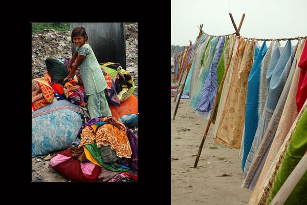 Girl Sari Washer<br /> Agra, Uttar Pradesh
