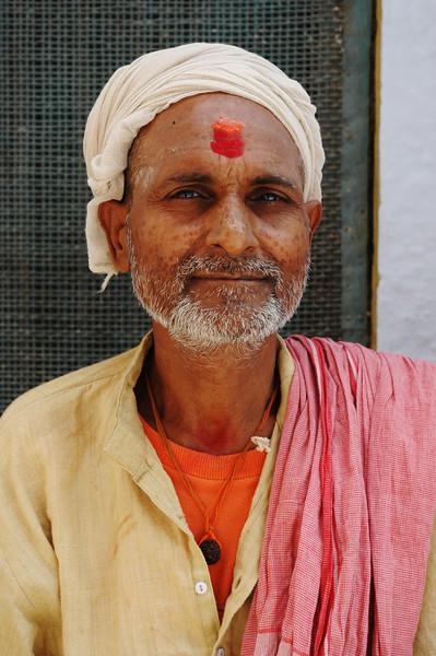 Man With Tika<br /> Varanasi, Uttar Pradesh