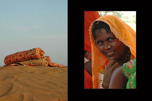 Dung Collector / Sleeping Mattresses<br /> The Thar Desert, Rajasthan
