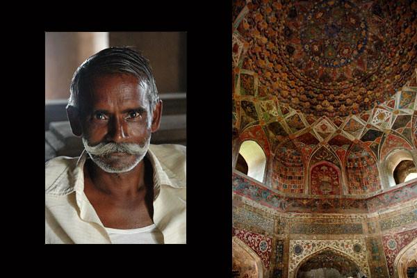 Chini-Ka-RauzahTomb Attendant<br /> Agra, Uttar Pradesh