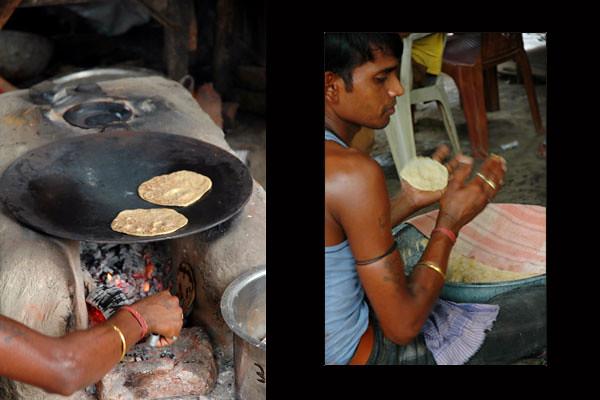 Street Chapati Maker<br /> Agra, Uttar Pradesh