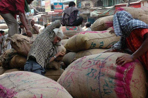 Spice Sacks<br /> Old Delhi Spice Market, Delhi