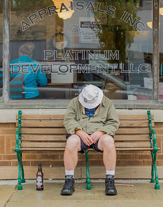 """Business as Usual'"", Walnut Street, Bloomington, Indiana, September 29th."