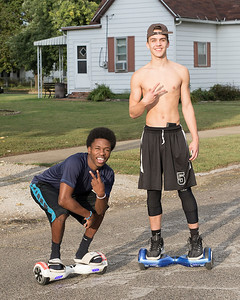"""""""Friends on Balance Boards"""" 13 1/2 and Oak Streets, Terre Haute, Indiana, September 27th."""