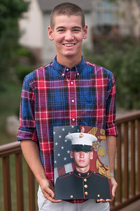 """Max"", ""Young, Proud, New, United States Marine"" Bloomington, Indiana, September 26th."