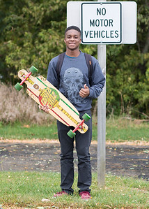 Purdue University Longboard Club Member, West Lafayette, Indiana, September 2015.