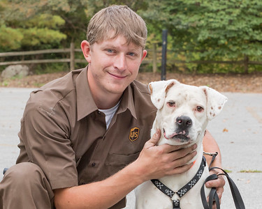 Nate and his dog Diesel