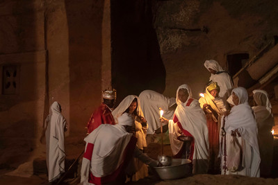 Inside the underground network there are many chambers where a variety of religious activities take place
