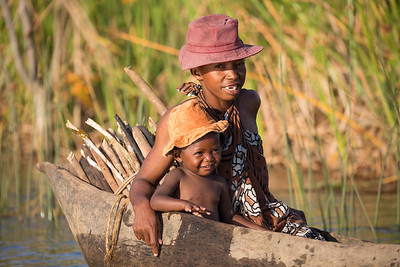 Life in madagascar countryside on river