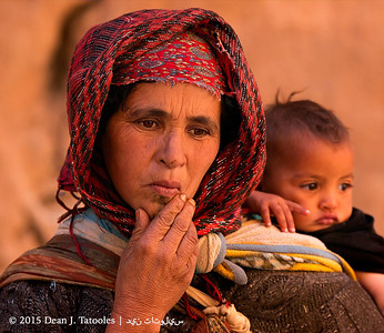 Berber Woman and Baby; Toudra Gorges