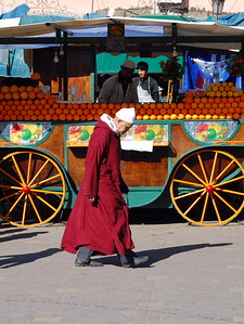 Jemaa Fna; Orange Juice Sllers