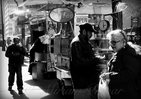 The Coffee Seller - Street Vendor - New York City Street Scene