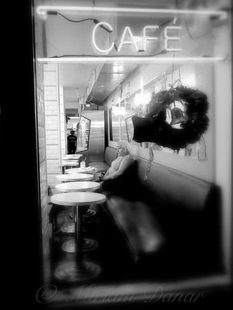 Woman In Cafeteria Window - Christmas Eve