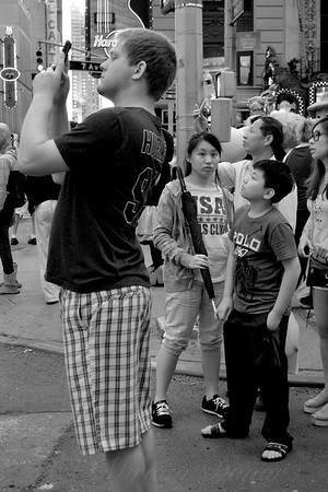 The Awesome That is Times Square - Kids in the Crowd - New York City Street Scene