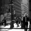Man with Straw Hat - New York City Street Scene
