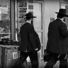 Two Men in the City - New York City Street Scene - People of New York - Black and white version