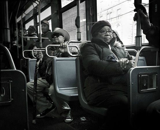 Faces on a Bus - 1