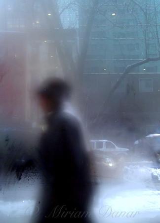 Snowy Day - New York City Street Scene