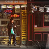 Man and Convenience Store - Late Day - People of New York City