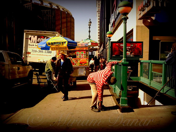 Outside the Garden - New York City Street Scene