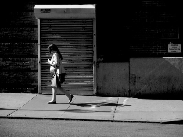 Girl Walking - New York City Street Scene