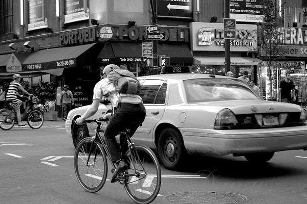 Wheels - Transportation in New York City - black and white