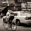 Wheels - Transportation in New York City - sepia