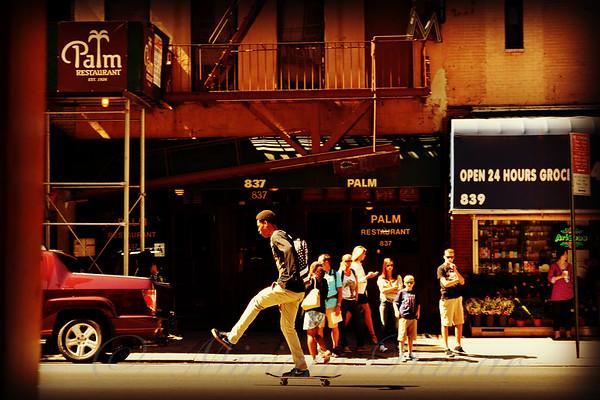Skateboard - Life in New York - New York City Street Scene