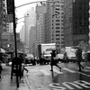 Running in the Rain - New York City Street Scene