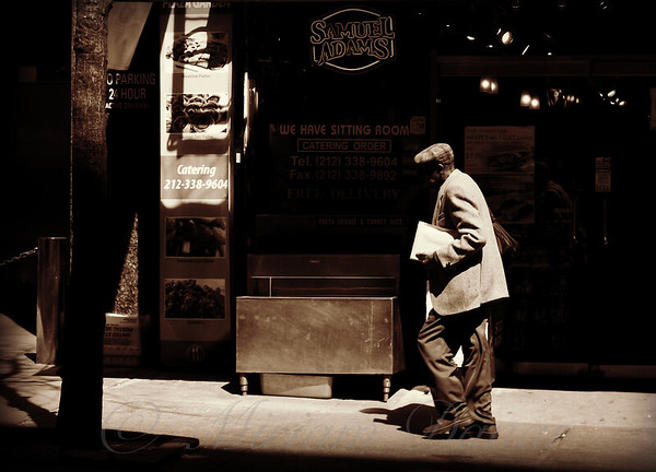 Man Walking - New York City Street Scene