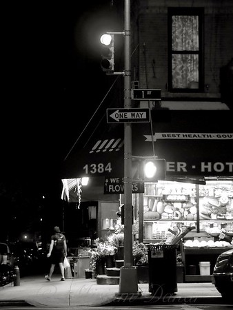 New York at Night - Corner Market - Yorkville Upper East Side