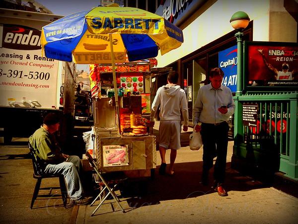 Outside the Garden 3 - New York City Street Scene