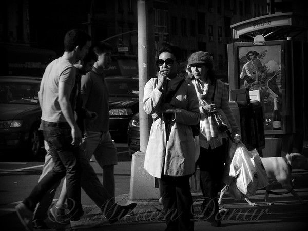 Two Women - New York City Street Scene