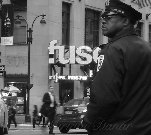 Traffic Cop - New York City Street Scene