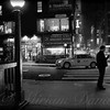 New York at Night - The Glow of the Street - Black and White