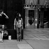 Bystanders 42nd Street - Sidewalks of New York - Black and white