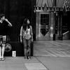 Bystanders 42nd Street - Sidewalks of New York - Black and white