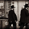 Two Men in the City - New York City Street Scene - People of New York