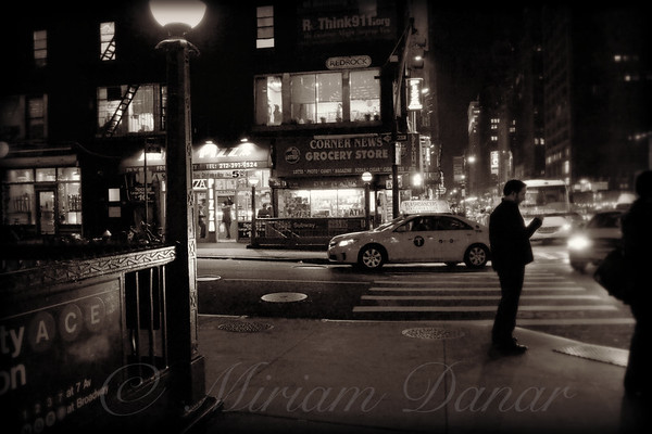 New York at Night - The Glow of the Street